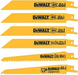 Dewalt set of 6 reciprocating saw blades