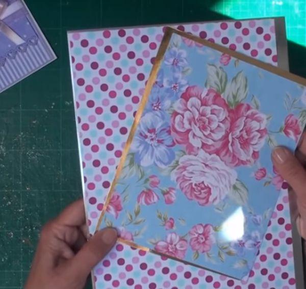 Matting and layering paper craft