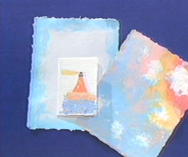 paper pulp painting paper craft