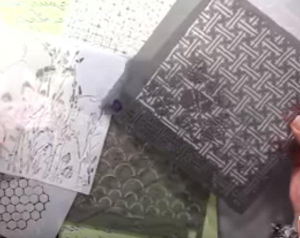 Stenciling paper craft