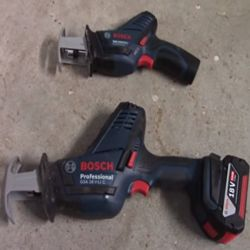 Bosch recip saws for wood and metals
