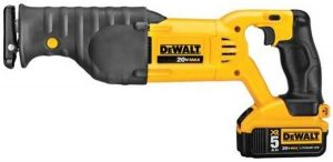 Dewalt cordless recip saw with chargeable battery